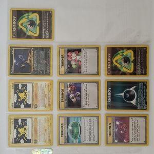 Lot of 10 Rare Vintage Pokémon Cards